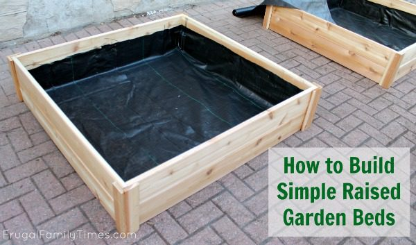 How To Build Raised Garden Boxes Diy Grow Vegetables Anywhere Frugal Family Times