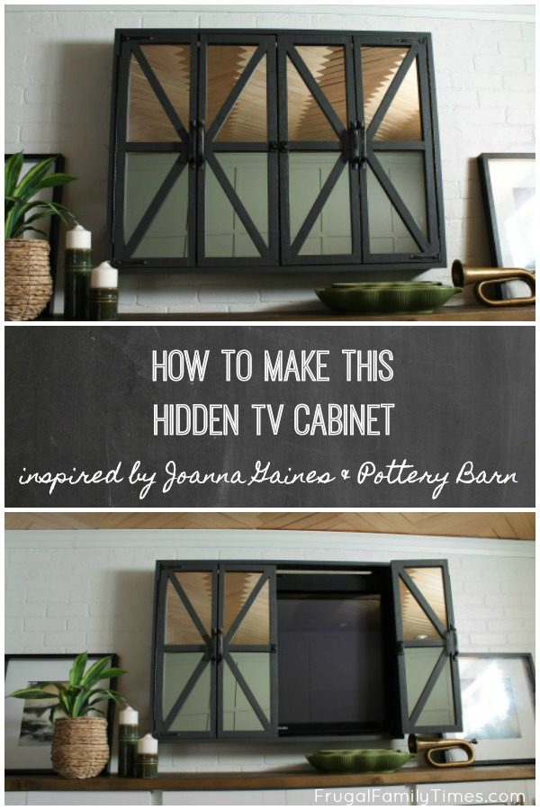 Make A Hidden Tv Cabinet With Mirrors Inspired By Joanna