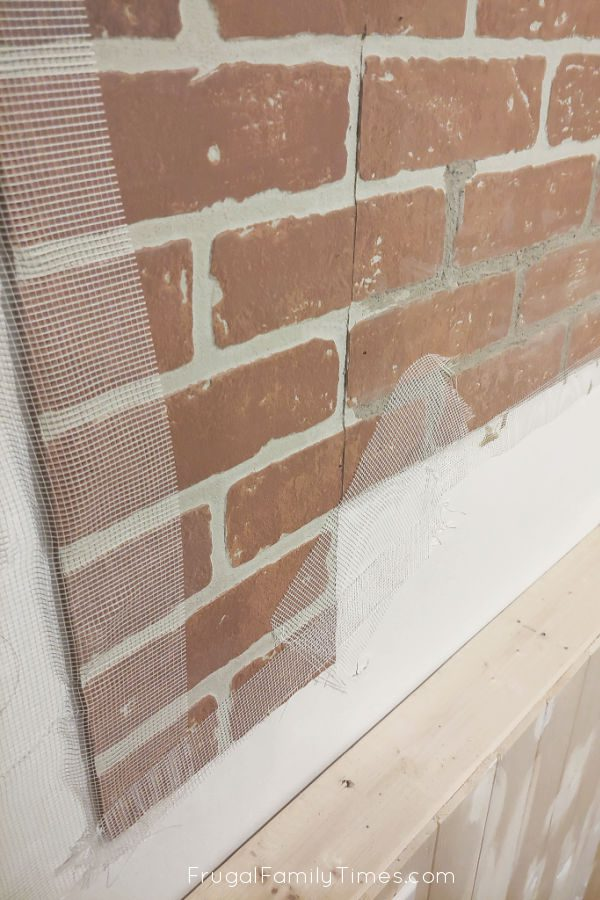 How To Realistic Diy Faux Brick Wall With Plaster Treatment Frugal Family Times